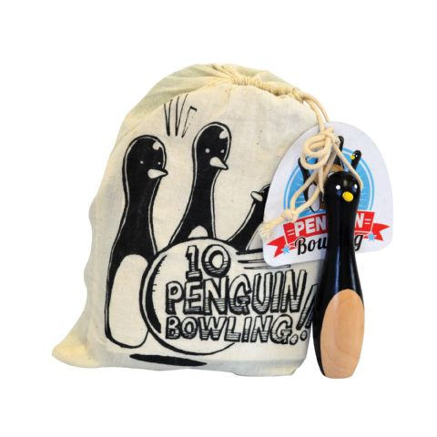 10-Pin Bowling Penguins in a Bag  House Of Marbles - Age 3 Plus